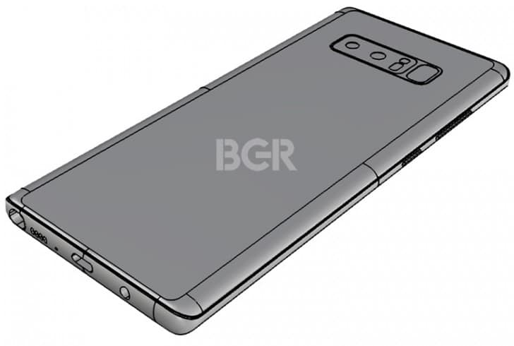Samsung Galaxy Note 8 Leaked Render Image – An Innovative Design I Guess