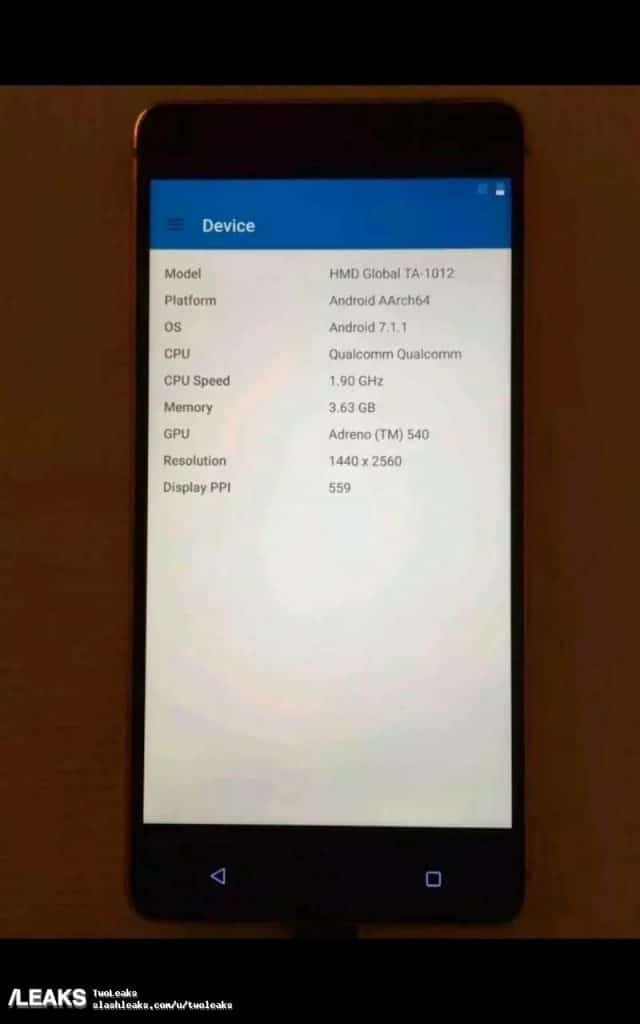 New Nokia 8 Leak Reveals Front Camera 4K Video Recording, 2K Display And Snapdragon 835