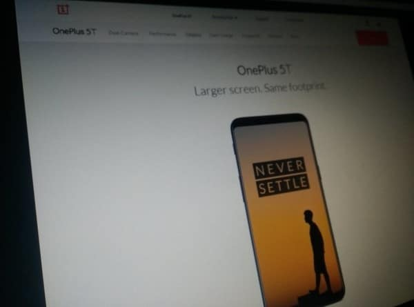 OnePlus 5T Official Site Listing Image Leaks Out !