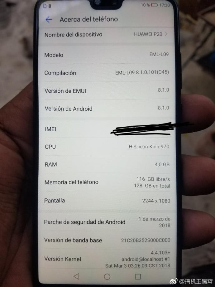 Huawei P20 Hands On Images Leaked