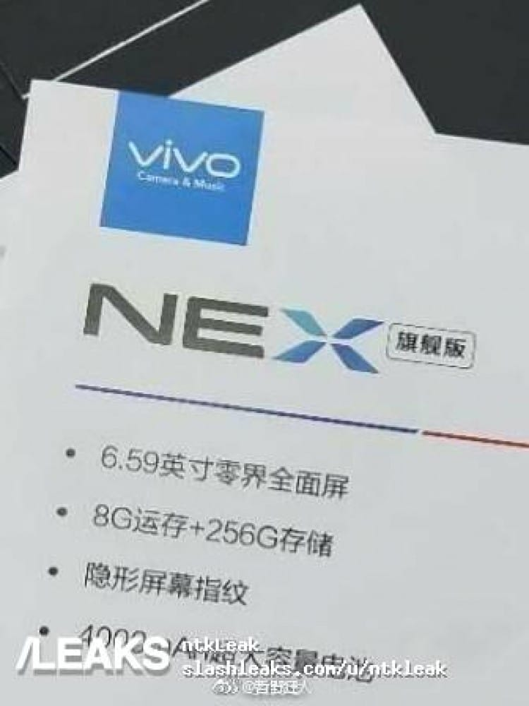 VIVO NEX's Flagship Variant Leaks With Snapdragon 845