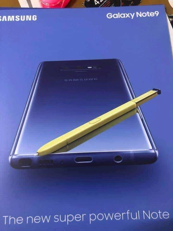 Samsung Galaxy Note 9 Real Image Leaked